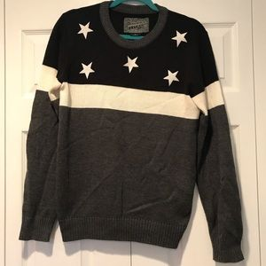 BROOKLYN CLOTH - black white and gray sweater